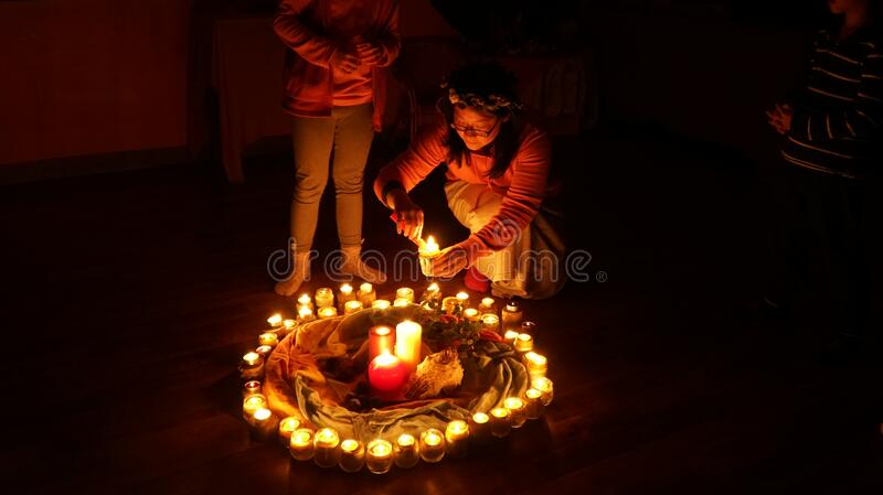 Child Lighting Candles In Ring Free Public Domain Cc0 Image