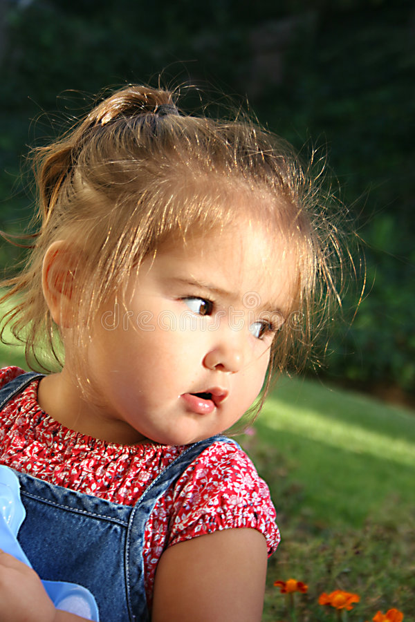 Child looking away royalty free stock photos