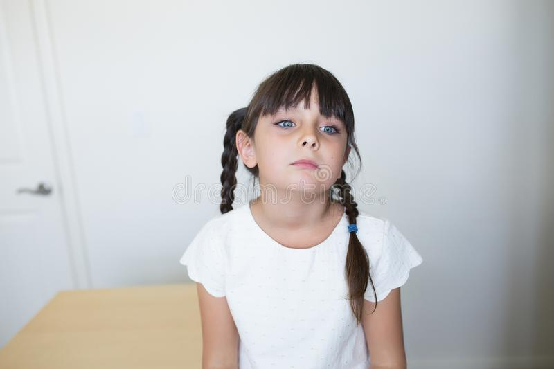 Bored girl stock image