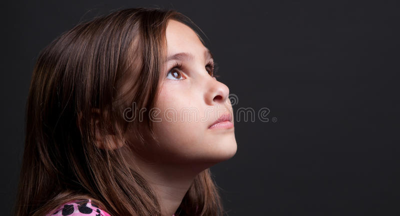 Download Child looking up stock photo. Image of joyful, look, portrait - 24082840