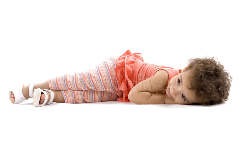 Child Lying stock photo