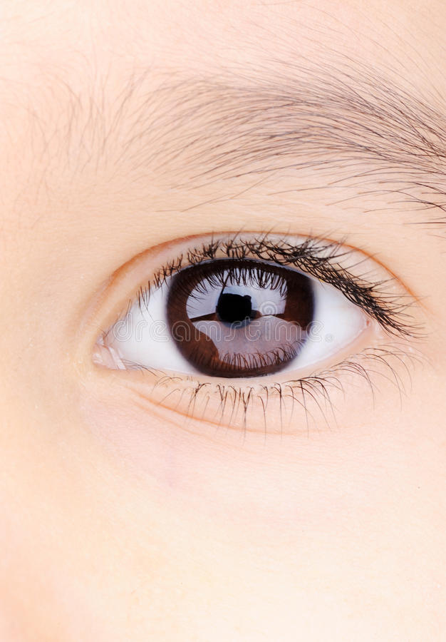 Child macro closeup eye royalty free stock image