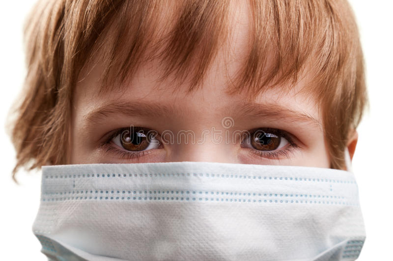 Download Child in medicine mask stock image. Image of looking - 18871255