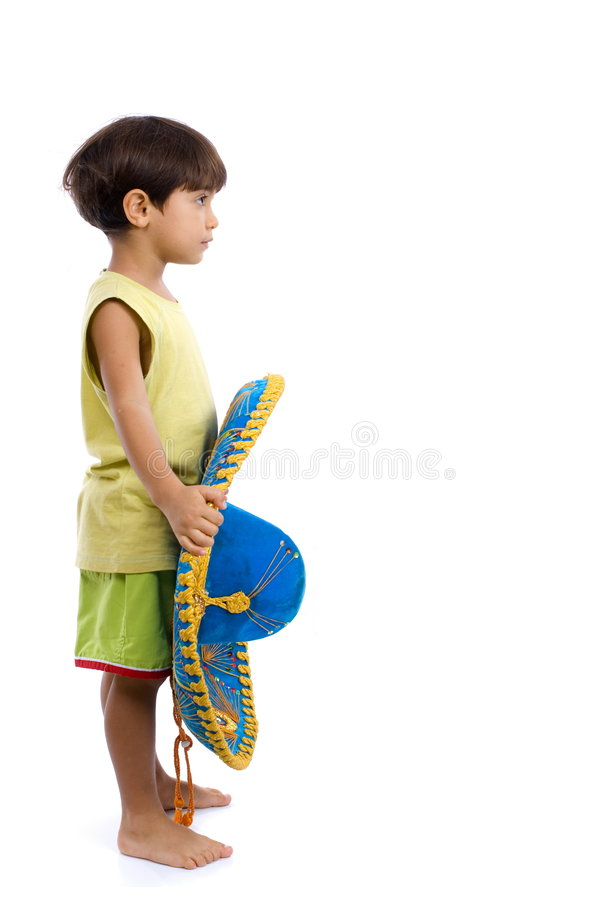 Child and Mexinca Hat royalty free stock photo