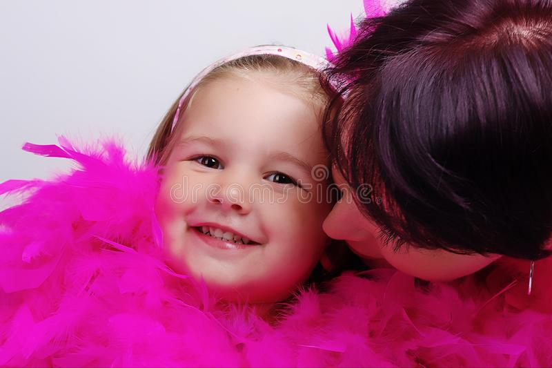Child with mother stock image
