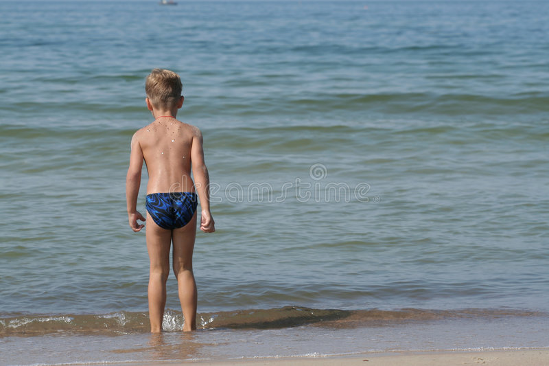 Child in motion stock photography