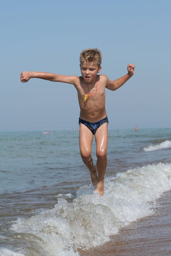 Child in motion royalty free stock photo