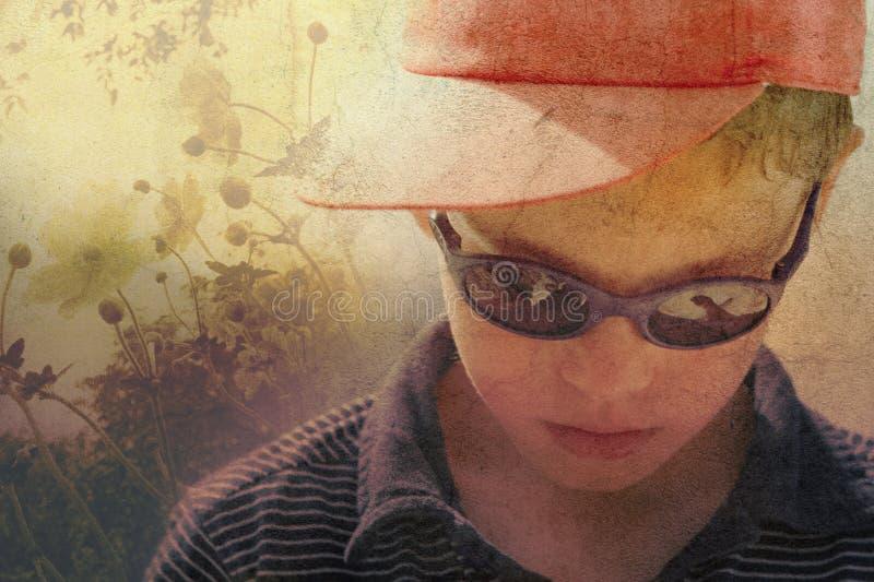 Download Child in nature stock image. Image of grunge, light, artwork - 16178221