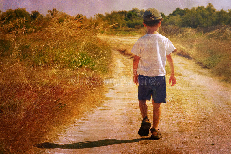 Child in nature stock photo