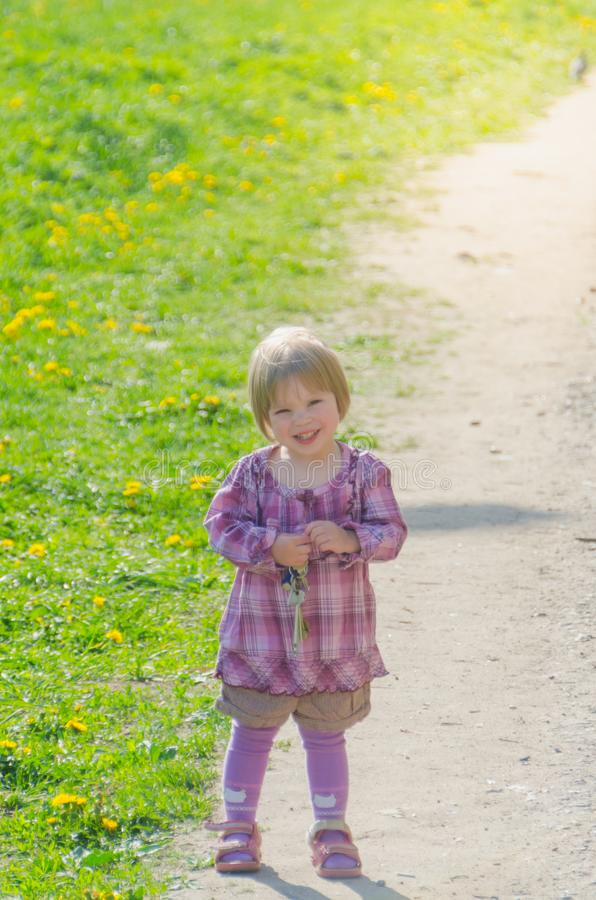 Girl in the Park on a Sunny summer day royalty free stock photo