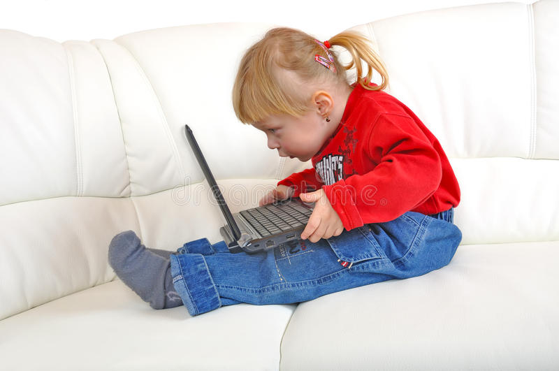 Child with notebook royalty free stock photography