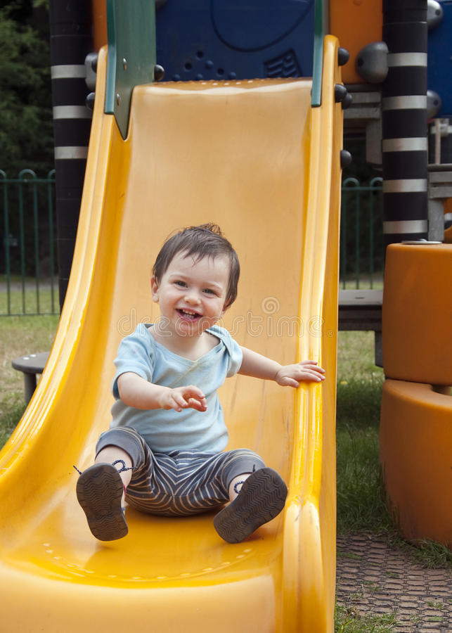 Free Child On A Slide Royalty Free Stock Images - 15296029