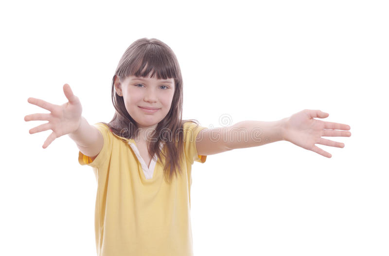 The child with open embraces royalty free stock photos