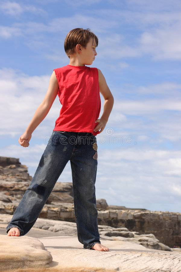 Child Outdoors In The Summer Sun Royalty Free Stock Photos
