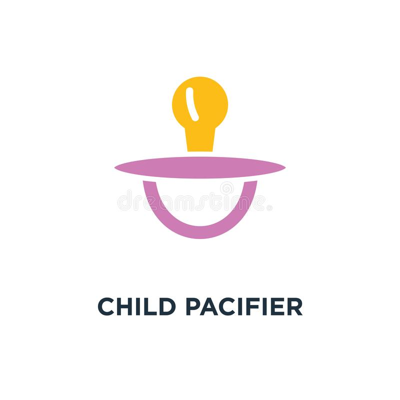 child pacifier icon. baby child concept symbol design, sleep toy royalty free illustration