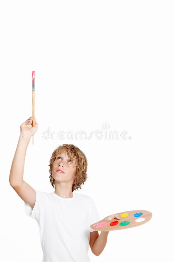 Download Child painting stock photo. Image of space, play, paintbrush - 19011516