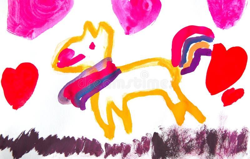 Child painting vector illustration