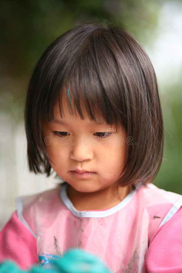Download Child  & painting job stock photo. Image of chinese, color - 3683448