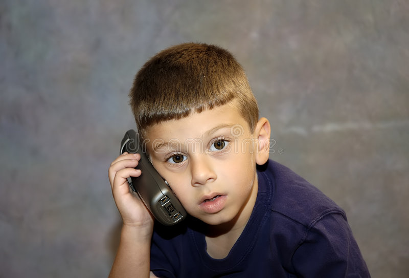 Download Child on Phone stock photo. Image of listening, office, expression - 16864