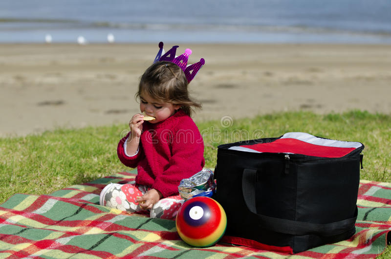 Download Child on a picnic stock photo. Image of horizon, pink - 26315436