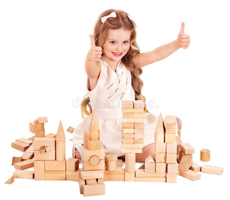 Child play building blocks. stock image