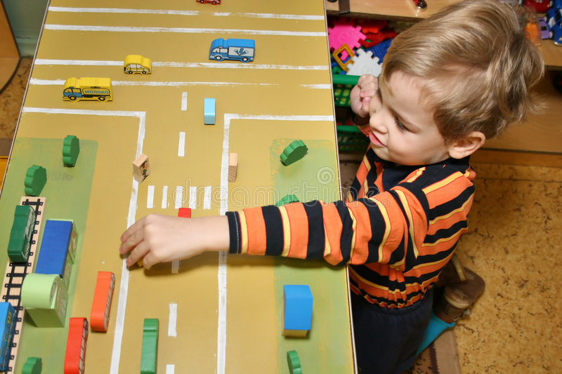 Child play in kindergarten stock photography
