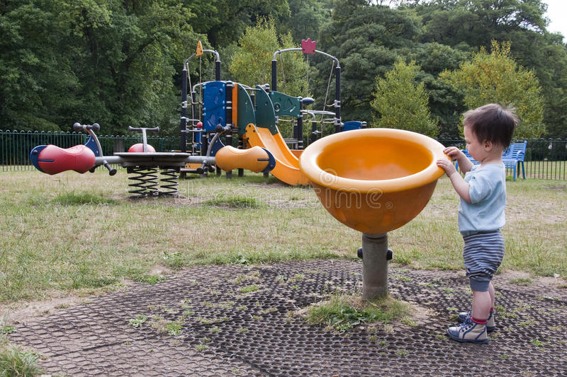 Download Child in playground stock image. Image of empty, park - 16304633