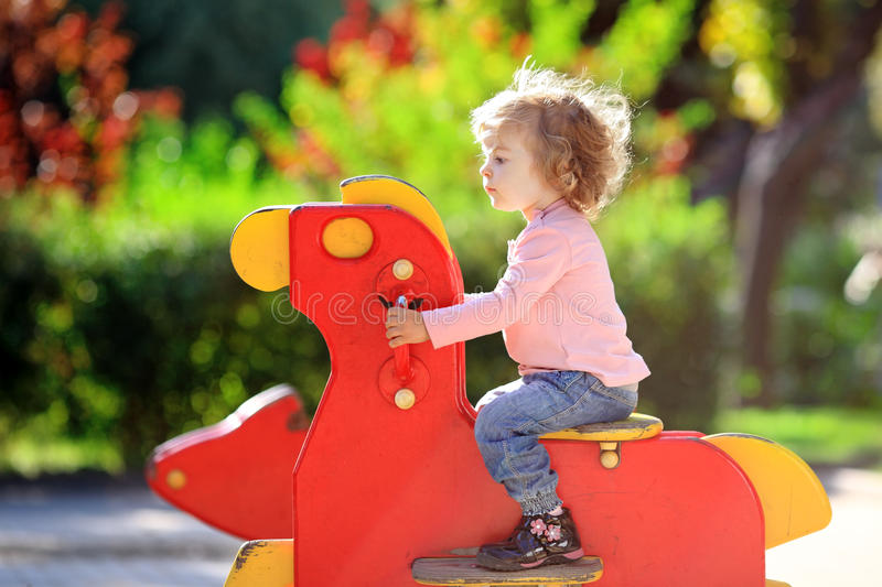 Download Child On Playground Royalty Free Stock Photography - Image: 19133397