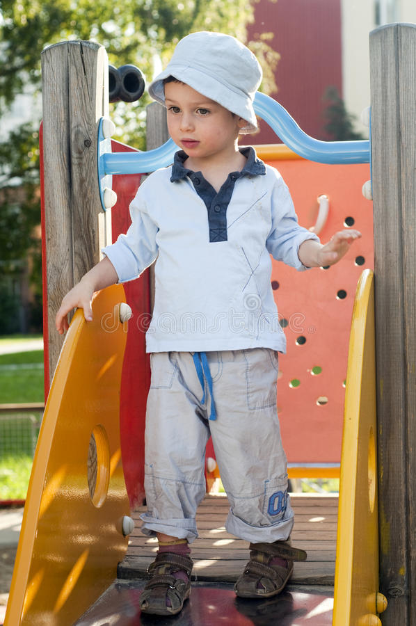 Download Child at playground stock photo. Image of outside, children - 21944056