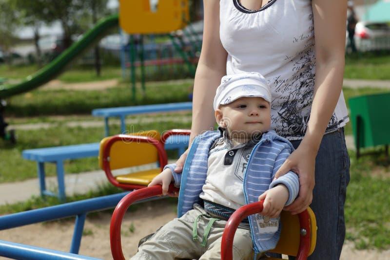 Child on playground royalty free stock photo
