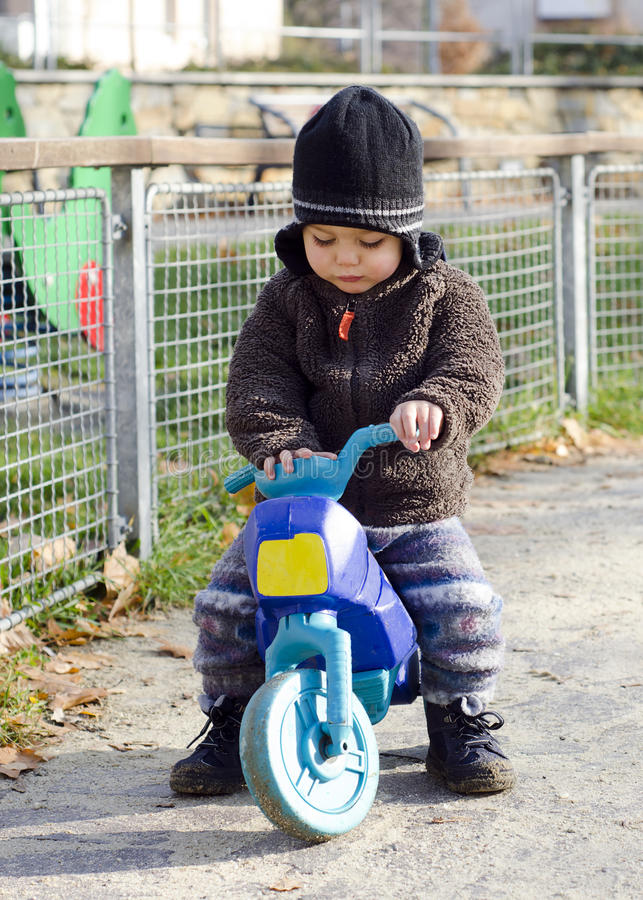 Download Child at playground stock image. Image of outdoors, driver - 28653525