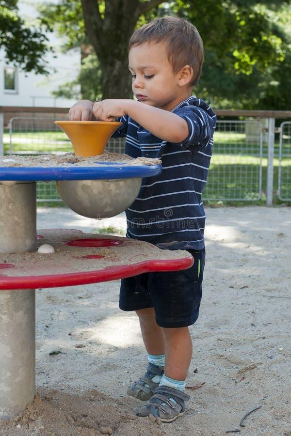 Child at playground stock photos