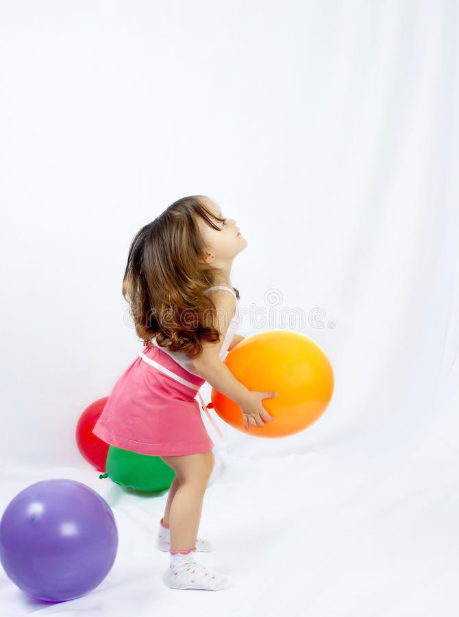 Download The Child Playing A Balloon Stock Photo - Image: 19291094