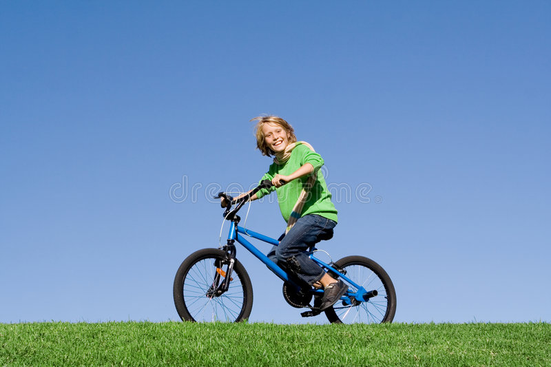 Download Child playing on bike stock image. Image of healthy, children - 6760765