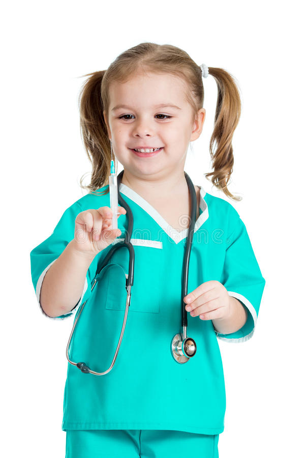 Download Child playing doctor stock image. Image of care, playing - 29058361