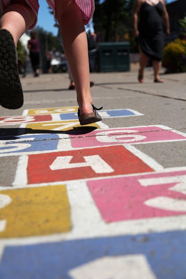 Street hopscotch child royalty free stock photography