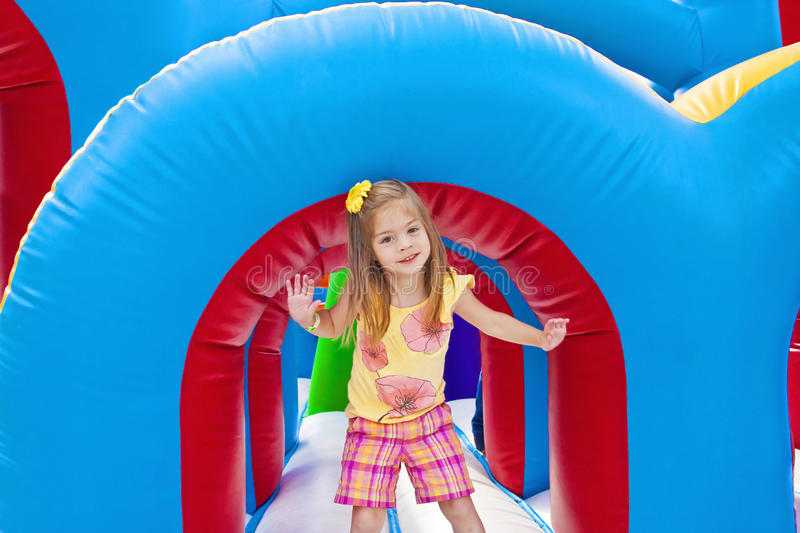 Download Child Playing On Inflatable Playground Stock Photo - Image: 18810662