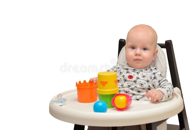 Child Playing Toys. Children Development Concept. Baby Kid royalty free stock image