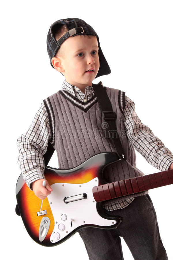 Child playing video game royalty free stock photography