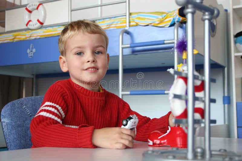 Child in playroom stock photography