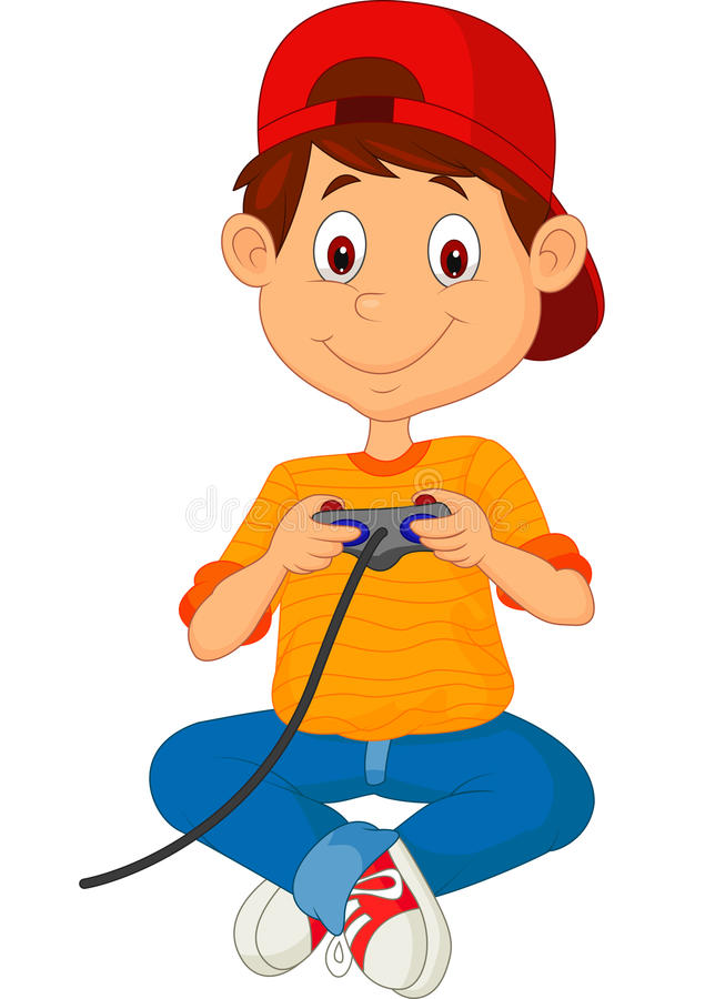 Free Child Plays Games On The Joystick Stock Image - 33242341