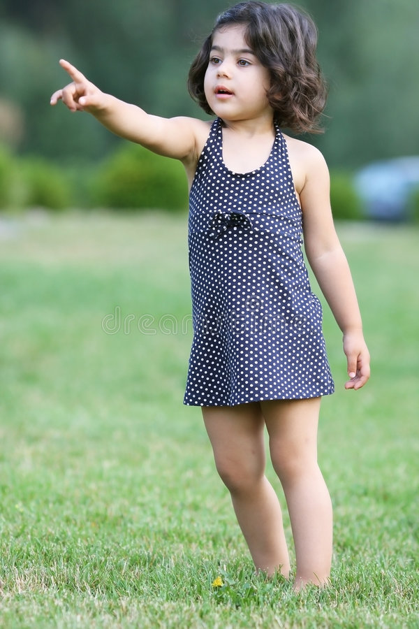 Download Child pointing stock photo. Image of spring, hand, warm - 7317200
