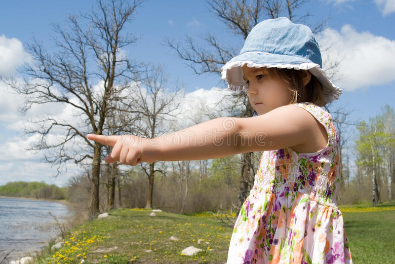 Download Child Pointing At The Beach Stock Image - Image: 9572059