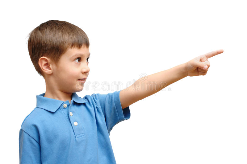 Download Child points his finger stock image. Image of lifestyle - 18596693
