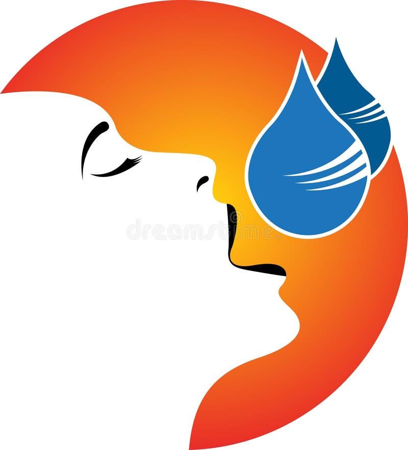 Child polio drops logo. Illustration art of a child polio drops logo with backgroun royalty free illustration