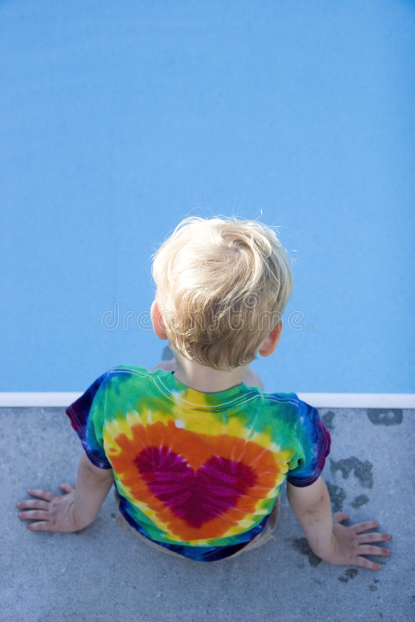 Child At Pool Stock Images