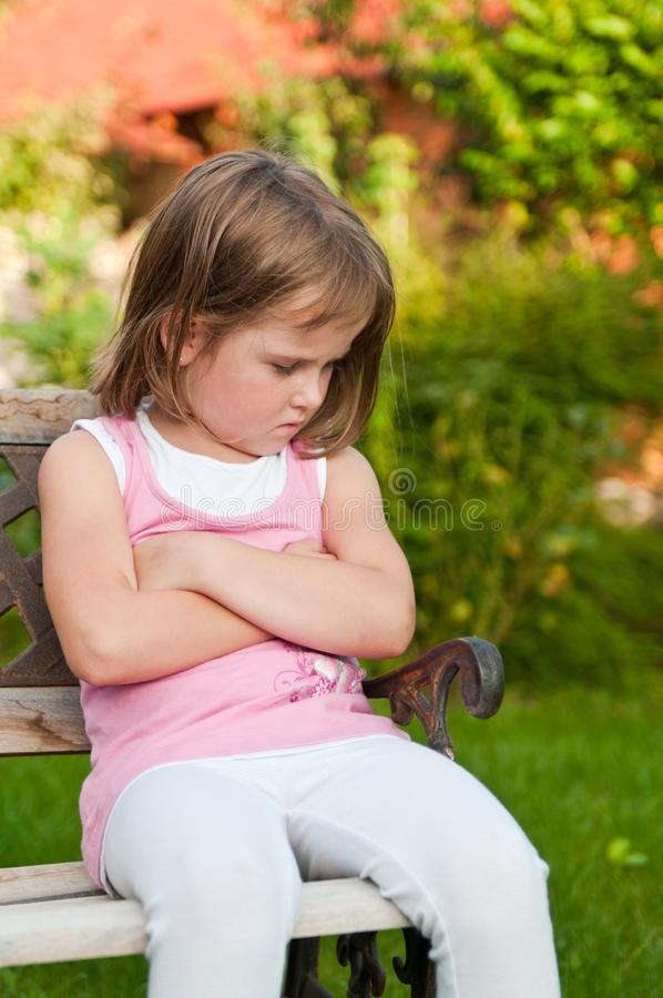 Child portrait - offended stock image