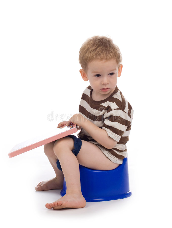 Child and potty stock photography