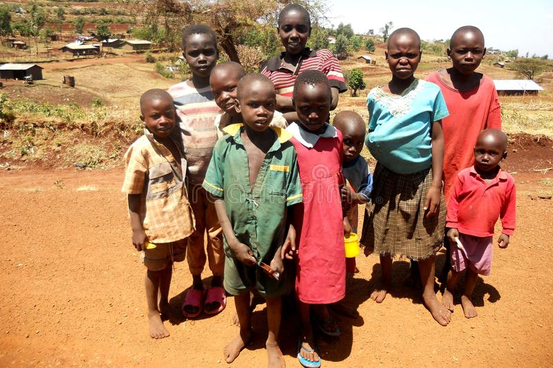 Child Poverty in Africa royalty free stock images