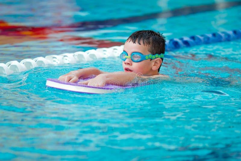 Boy Practice Swimming royalty free stock image